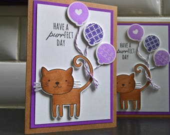 Cat Birthday Card, Kitty Card, Cat Lover Card, Cat Card, Cat Greeting Card, Kitty Birthday Card