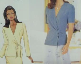 WRAP TOP Pattern • Butterick 6000 • Miss 14-18 • Princess Seam Top • Straight Skirt • Sewing Patterns • Modern Patterns • WhiletheCatNaps