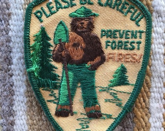 Vintage Smokey the Bear prevent forset fires patch