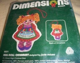 Dimensions Rag Doll Ornament Crewel Kit