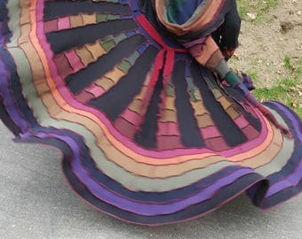 Custom Order! Earthen Rainbow  Upcycled Sweater patchwork Gipsy Coat