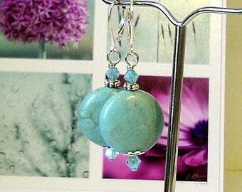 Boucles Dormeuses Mariage  - Perles de verre nacré renaissance blanc crème 10mm / plaqué argent - White pearls lever back earrings