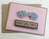Love You Tons Elephant Card