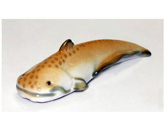Original Russian Imperial LOMONOSOV Fine Porcelain. Beautiful Catfish 4.2 inch long. Great  quality figurine hand crafted in Russia.  Marked