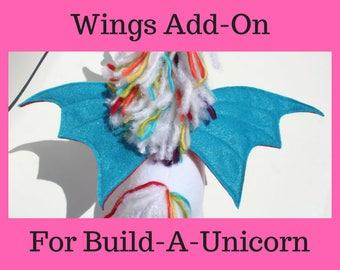 Build-A-Unicorn Wing Add-On, Unicorn Add-On to Make it into a Pegacorn, Personalized, Customized