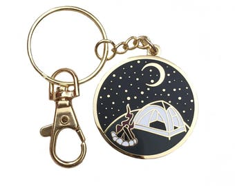 Camp Out Keychain
