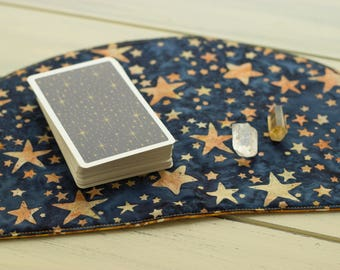 Cosmic Stars Moon Mat for daily oracle readings, crystal moon cleansing, tarot