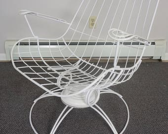 Mid Century Wire Patio Chair / Homecrest Vintage Chair / Wrought Iron Patio  Furniture / High