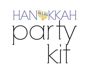 Hanukkah Party Kit | Hanukkah Decorations | Dinner Party for 24