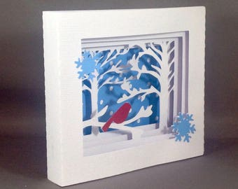 Red Cardinal Pop Up Christmas Cards | Christmas Cardinal Pop Up Cards | Friendship Card | Holiday Cards | Cute Christmas Cards Xmas Cards