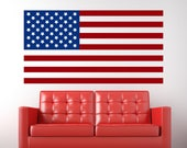 USA - American Flag Wall Vinyl Decal Sticker