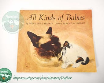 All Kinds of Babies: Vintage Childrens Book Watercolor Illustrations Paperback 1970s