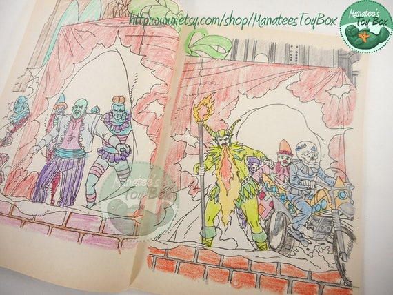 Vintage Batman Returns Coloring Book 1990s USED