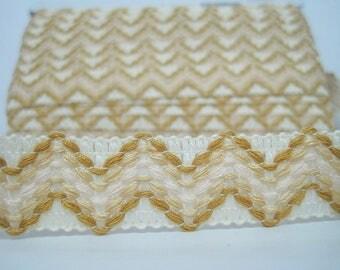 5 yards Boho Ribbon, colorful ribbon, wholesale trim, boho ribbon, cream ribbon, cream trim, cream braided, bohemian ribbon, boho trim,brown