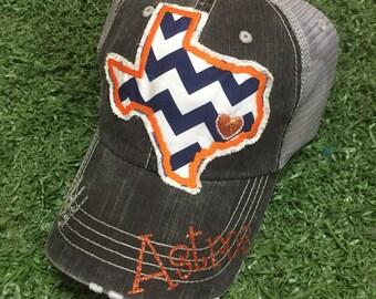 Houston  Astros Texas State Baseball Bling Ladies Womens Trucker Hat
