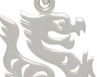 Chinese Zodiac Dragon Charmn -19mm, Sterling Silver