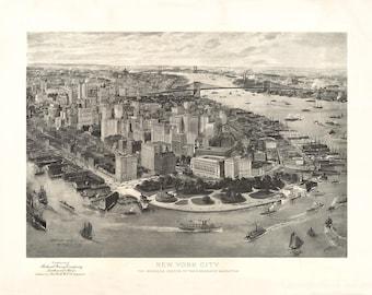 1905 Panoramic View of New York City