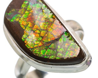 Ammolite 925 Sterling Silver Ring Size 8 RING846244