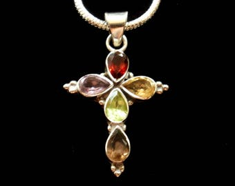 CROSS Multi Colored Gem Stone and STERLING SILVER