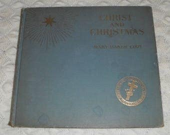 Christ and Christmas A Poem  by Mary Baker Eddy Vintage Hardcover book