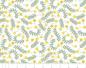 Bright Side - Sprigs White by Alisse Courter from Camelot Fabrics