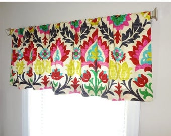 FALL is COMING SALE Curtain Valance Topper Window Treatment 53x15 Waverly Santa Maria Desert Flower Valance Curtains