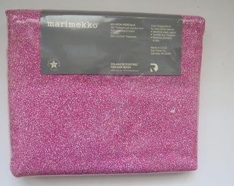 queen flat sheet by marimekko hot pink speckles sora pattern new in original