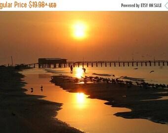 10% OFF Galveston Island Sunset Wall Artwork, Free Shipping, Original Signed Photo, Galveston Beach Sunset, Galveston Memorabilia, Photo