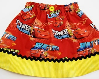 Disney Cars Skirt or Dress - Baby Infant Toddler Girls Ladies Cars Skirt or Dress - Cars Birthday - Lightning McQueen - Disney Cars Party