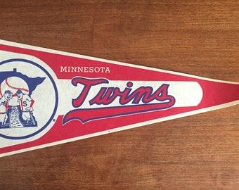 Vintage 80's Minnesota Twins Pennant