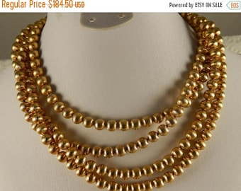 On Sale Vintage Napier Long Necklace, 12k Gold Filled Jewelry, 1950's 1960's Collectible Couture Jewelry, Old Hollywood Glamour