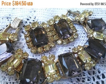 Now On Sale Juliana Vintage Rhinestone Jewelry Set, Bracelet Earrings Demi Parure 1960's D & E Collectible Designer Jewelry