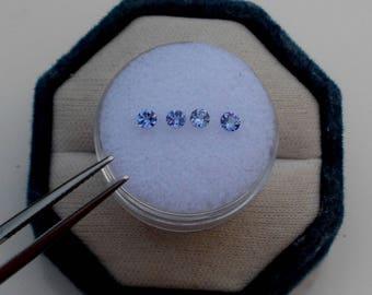 4 Tanzanite Round Loose  Gems 3mm each