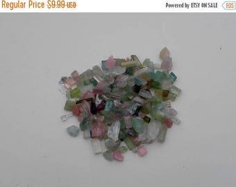 ON SALE Tourmaline crystal rough  gem mix parcel lot 35 carats