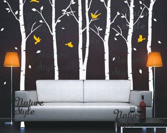 Customer listing for Tenille  - 4 Birch Trees with Flying Birds