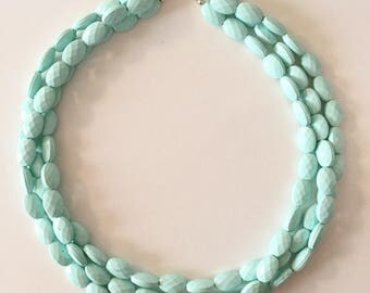 Mint Chunky Statement Necklace