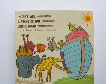 Vintage Noah's Ark Metal Cookie Cutters Set of 8 Animals 1980s