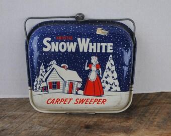 Vintage Childs Litho Carpet Sweeper Norstar Corporation Snow White