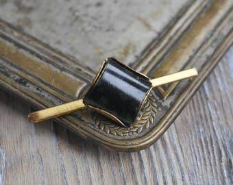 Vintage brass tie bar clip.