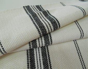 "Ralph Lauren Fabric - La Mesa - pc w 26"" x 26"" -Remnant-LFY67999F- Stripes- Upholstery fabric- Multipurpose Fabric- MOdern Stripes"