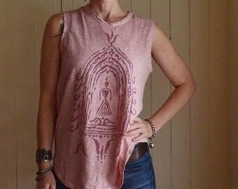 Divine Feminine Sleeveless Tee. Goddess Tshirt. Inspirational Tee. Yoga Shirt. Women's Tee. Yoga Clothing. Feminist T-shirt. Women Power.