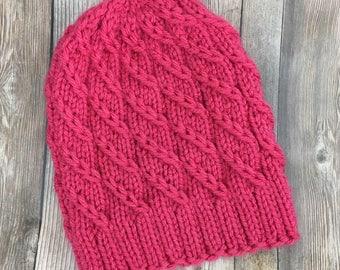 Winter Hat, Chunky Beanie, Unisex Knit Hat, Knit Beanie, Womens Hat, Mens Hat, Teen Hat, Winter Hat, Warm Hat, Womens Accessory, Wool Hat
