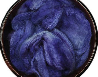 Handpainted Silk Hankies Mawata - Silk spinning / knitting / felting fiber, 12 g - Sinope