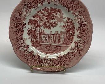 J & G Meakin Red Plate