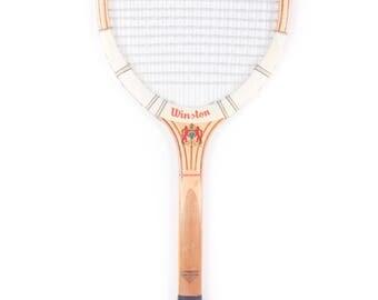 Vintage Wooden Tennis Racquet / Winston Tennis Racket / Antique Wood Tennis Racket / Antique Tennis Racket Sports Decor