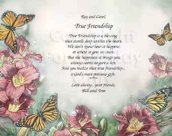 Friendship...True Friendship..  Sentimental Print Gift 1121