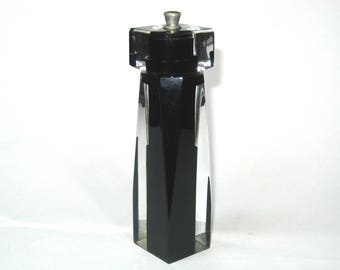 Tre Spade Italy Lucite Peppermill - Vintage Sleek Italian Mod Pepper Grinder