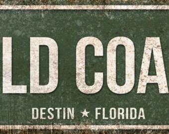 "Emerald Coast Pkwy // Destin, Florida  // Metal Sign // 5.5"" x 22"""