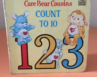 Vintage Care Bears Book  - Care Bear Cousins Count to 10 - 1986