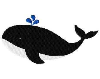 Whale Machine Embroidery Design - Instant Download